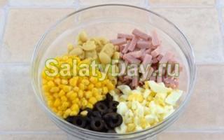 Салат с оливками рецепты с фото простые и вкусные