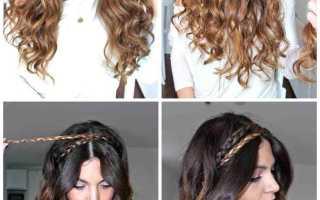 Греческая прическа с повязкой на длинные и короткие волосы