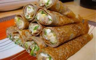 Фаршированные блины с начинкой: 144 домашних вкусных рецепта приготовления