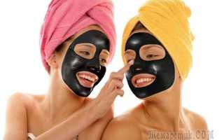 Черная маска для лица от черных точек и прыщей