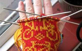 Утепляемся к зиме – вязание варежек на спицах, описание, схемы
