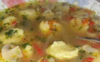 Суп с клецками: рецепт – куриный, молочный, грибной или рассольник