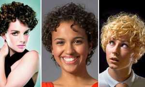 Женские стрижки на вьющиеся короткие волосы
