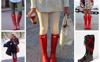 С чем носить резиновые сапоги: основные правила