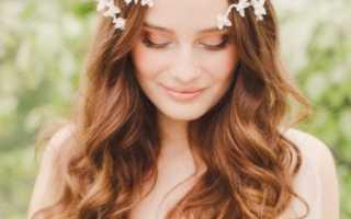 Как выбрать свадебную прическу на распущенные волосы