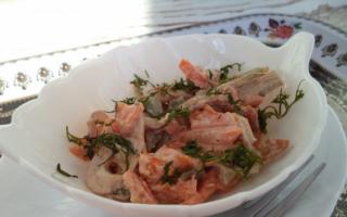 Салат со свининой: 10 рецептов вкусных салатов