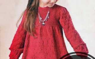Вязаное платье для девочки 2 года – схемы
