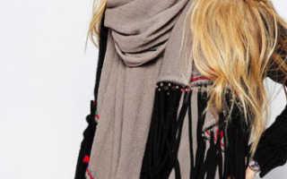 Как красиво завязать платок на шее поверх куртки, пальто и платья