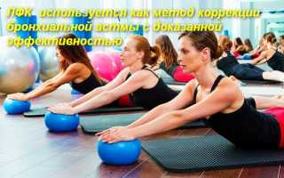 Лечебная физкультура в случае астмы