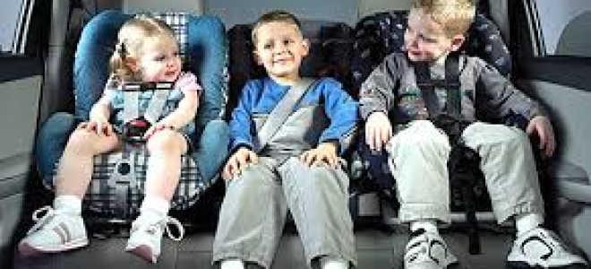 Правила перевозки детей в автомобиле с года